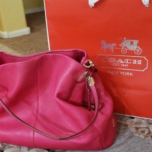 Coach handbag hotpink